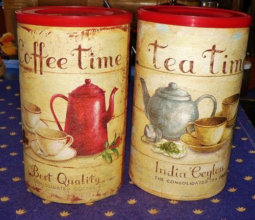 dózy na kávu a čaj