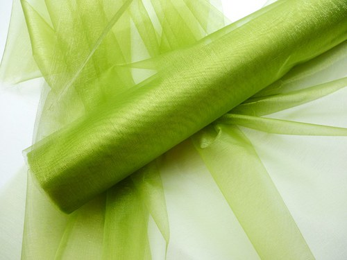 Organza zelená neobroubená (barva č. 31)