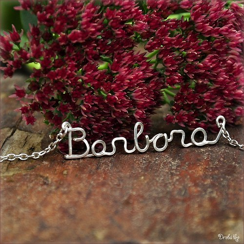 """Náhrdelník s menom / řetízek se jménem \""""Barbora\"""""""