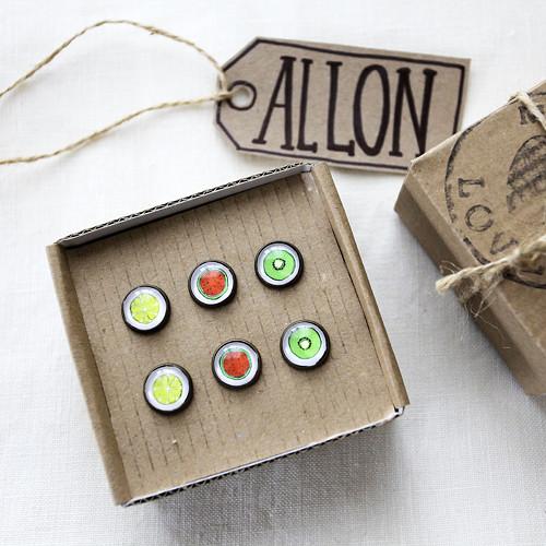 Ovoce-Set náušnic v dárkové krabičce
