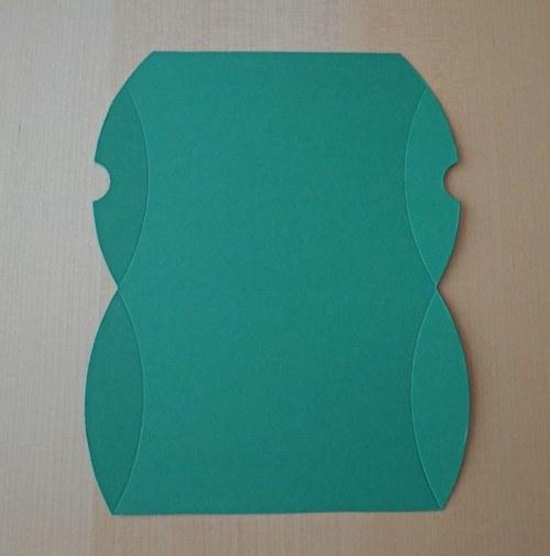 Výřez pro krabičku pukačku - tmavě zelená 1ks