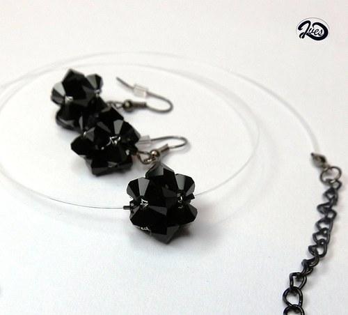 Černé kuličky Swarovski (166)