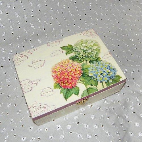 Krabička na čaj s hortenziemi