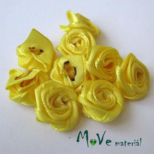 Růžička saténová žlutá Ø15mm, 10kusů