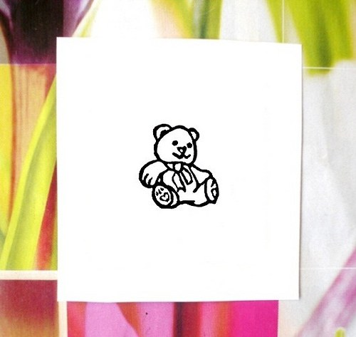 Medvídek. Omyvatelné razítko.