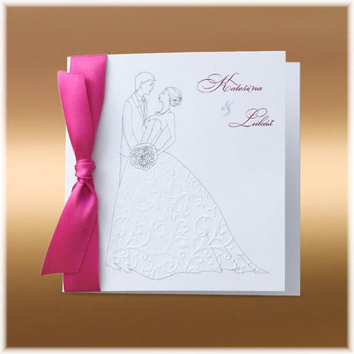"""Svatební oznámení \""""krajková nevěsta\"""""""