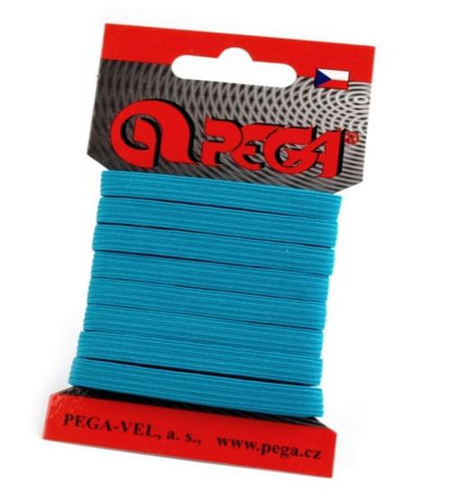 Pruženka šíře 7 mm (5m) - modrá tyrkys