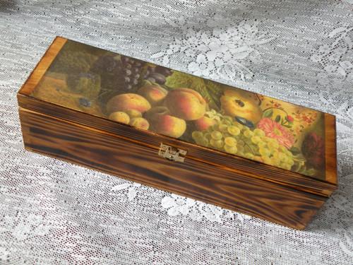 Dárková krabice na víno - vintage 1láhev
