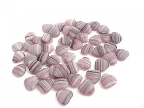 Srdíčko fialové žíhané mat