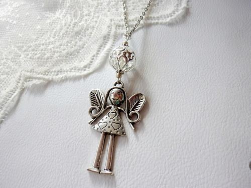 Náhrdelník  - andělka pro štěstí