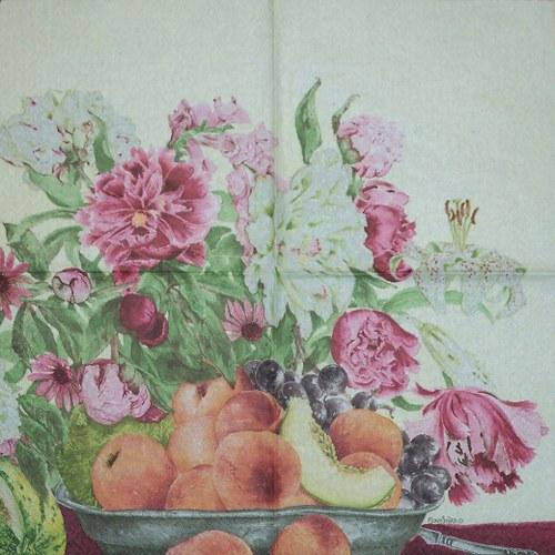 Zátiší ovoce a květin