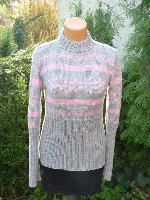 Ručně pletený svetr s norským vzorem