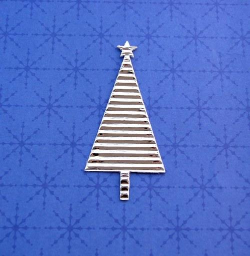 Vánoční stromeček plošný (stříbrný)
