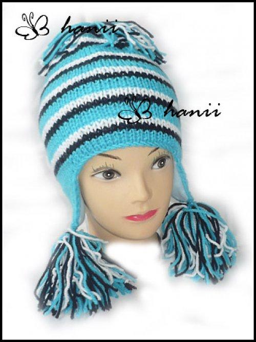 pletená čepice ušanka