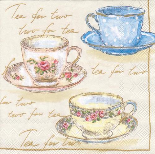 Ubrousek - šálky na čaj