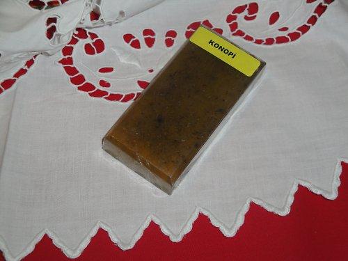 Glycerinové mýdlo s konopím