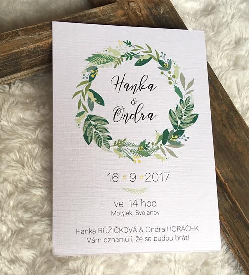 Svatební oznámení XIV. / Zelené větvičkové