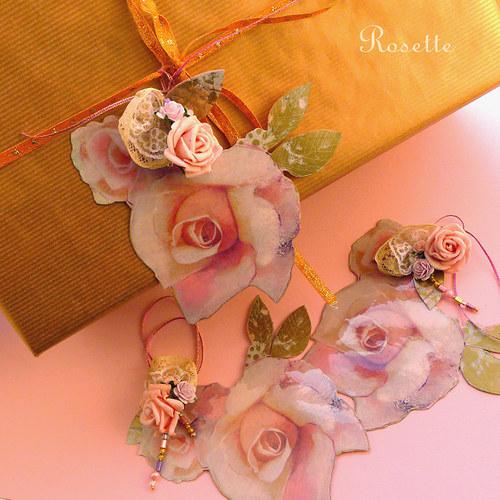 Růže na druhou ... -  visačky na dárky