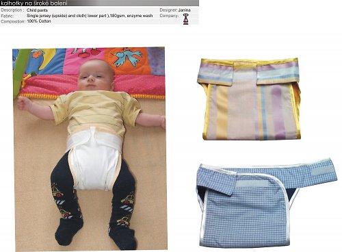 střih- kalhotky na široké balení pro mimčo