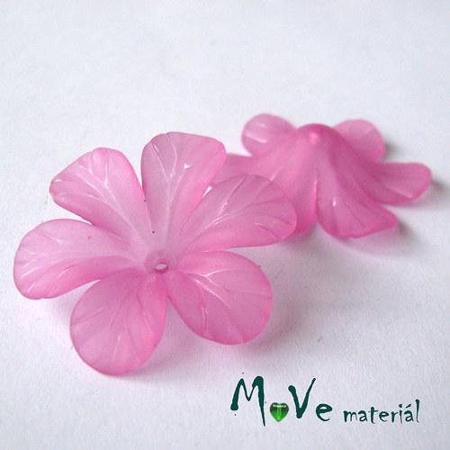Akrylový květ 30mm, 2ks, růžovofialový
