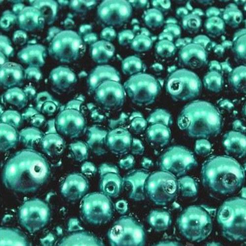 Voskované perly barevný MIX cca Ø4-10mm 50g