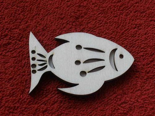Razítko překližka ryba č.2 - v.4x6,6cm