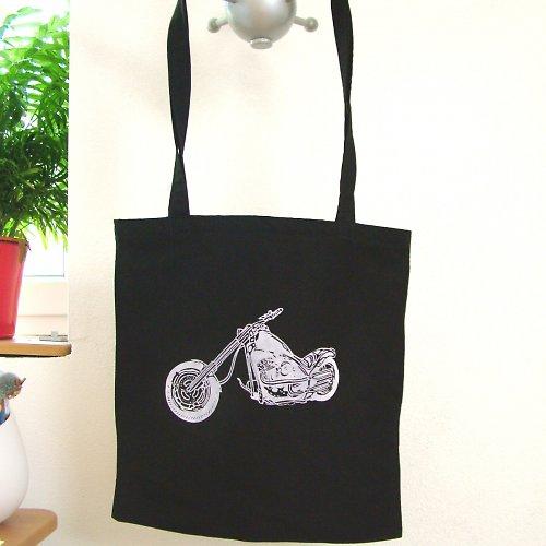 Motorkářská nákupní taška