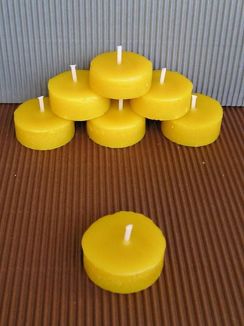 Náplň do čajové svíčky ze včelího vosku