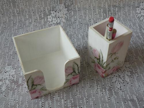 Originální romantická sada na psací stůl (2kusy)