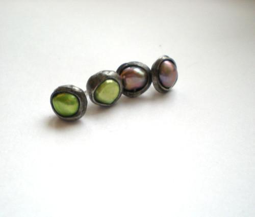 2x Naušnice z říčních perel na přání