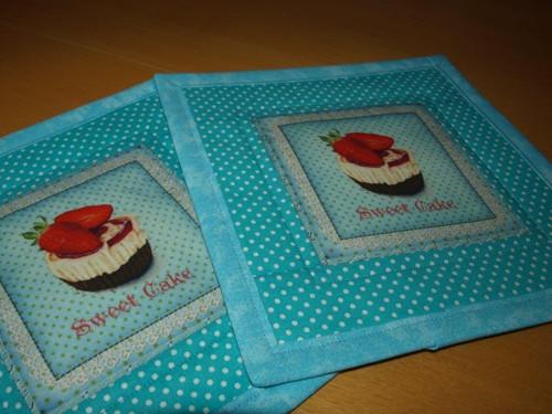 Prostírky pod hrnečky- sweet cake III.