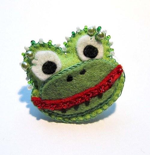 Brož  Malá žabka