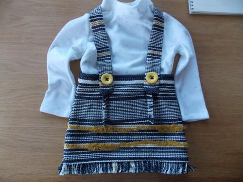 Dětská ručně tkaná sukně