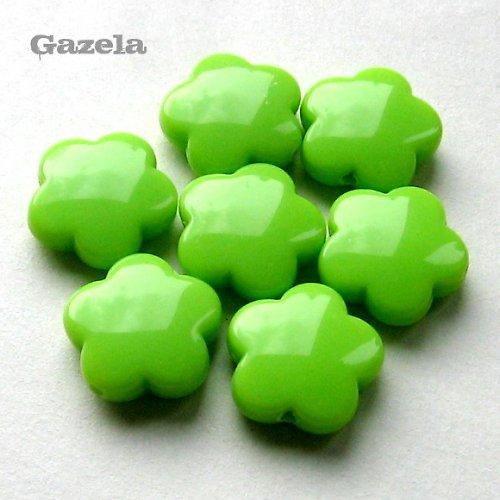 Kytičky světle zelené - 4 ks