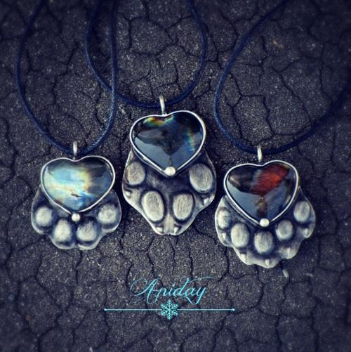 ... kočičí talisman - labradorit ...