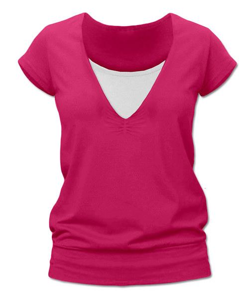 Kojicí tričko sytě růžová