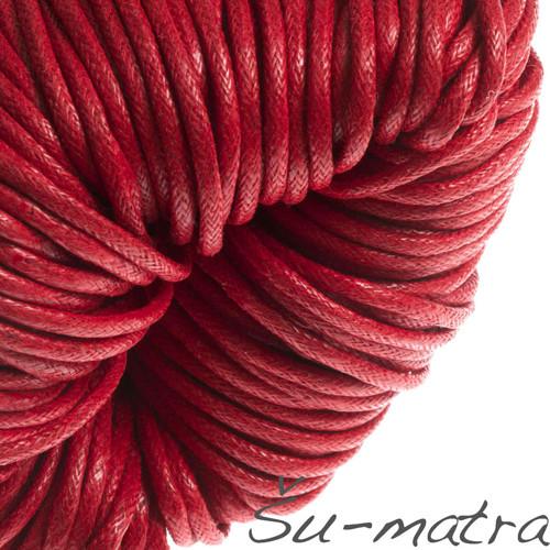 Voskovaná šňůra červená, 2 mm (8 m)