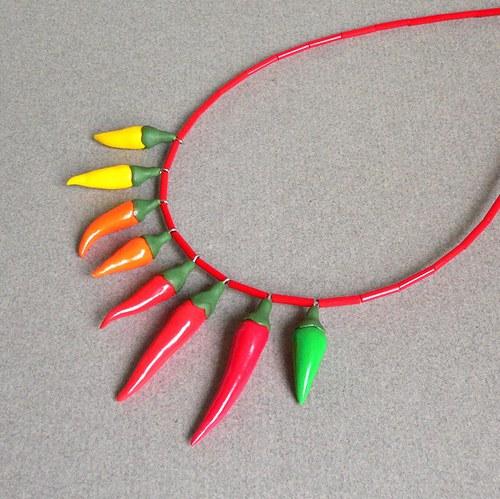 Chilli náhrdelník duhový