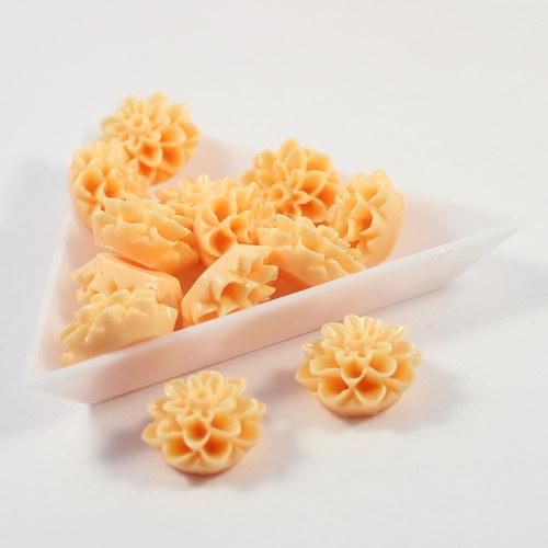 Kabošon jiřina 15 mm oranžová 6 ks