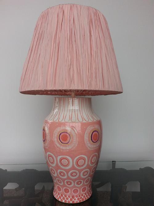 lampa růžová