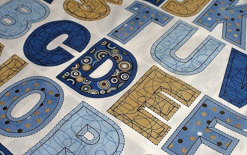 Abeceda - nažehlovací textilní obrázky