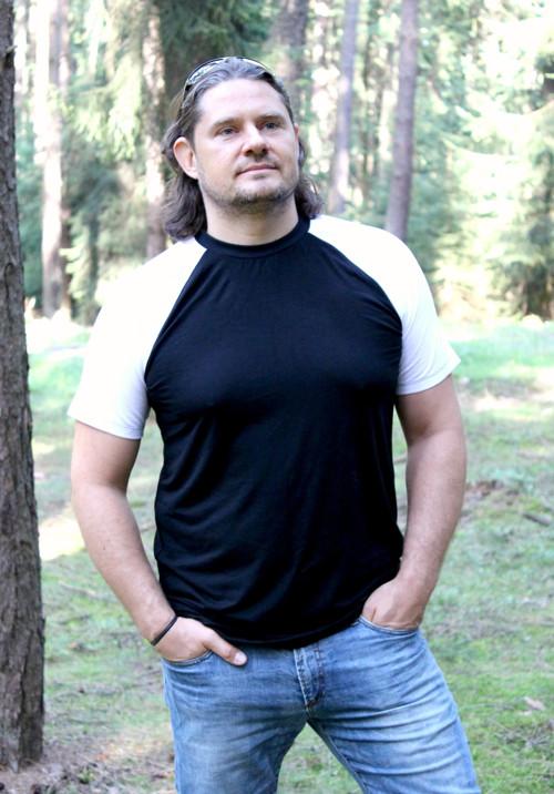 Pánské BAMBUS tričko, kr. ruk. - výběr barev