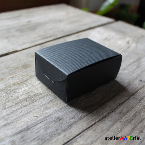 Papírová krabička SIMPLE černá M