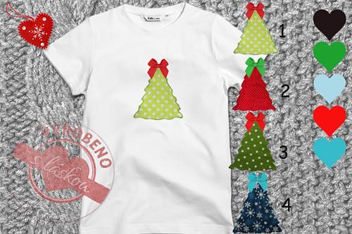 Klučičí tričko s vánočním stromečkem
