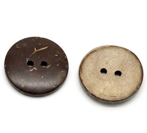Kokosový knoflík 25 mm 2ks