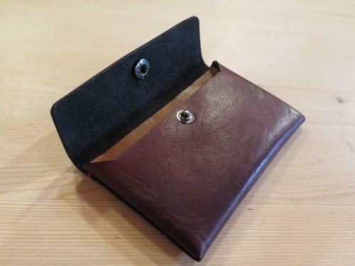 Kožená uzavíratelná peněženka s přihrádkou navíc