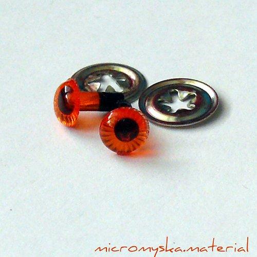 Bezpečnostní oči zvířecí - oranžové, 6 mm