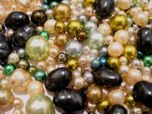 1404063/Mix zeleno/smetanových perlí, 50g