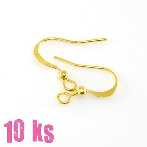 Ploché afroháčky - zlatá barva, 10 ks