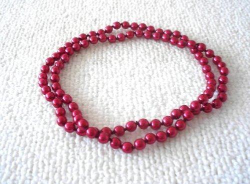 Náhrdelník voskový červený 2